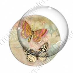 Image digitale - Papillon fond vintage
