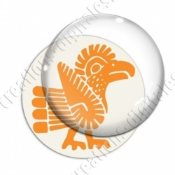 Image digitale - Tribal - Coq orange