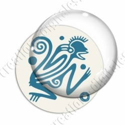 Image digitale - Tribal - Singe turquoise