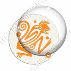 Image digitale - Tribal - Singe orange