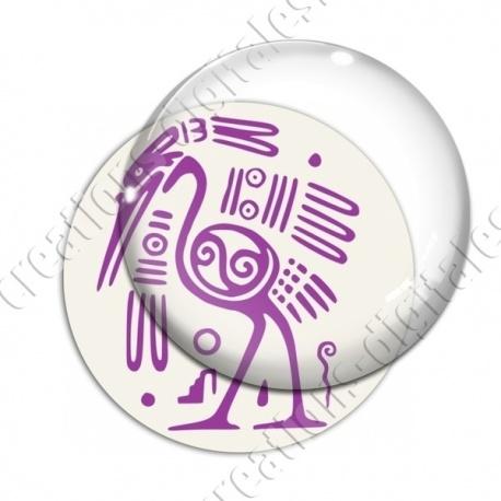 Image digitale - Tribal - Autruche violet