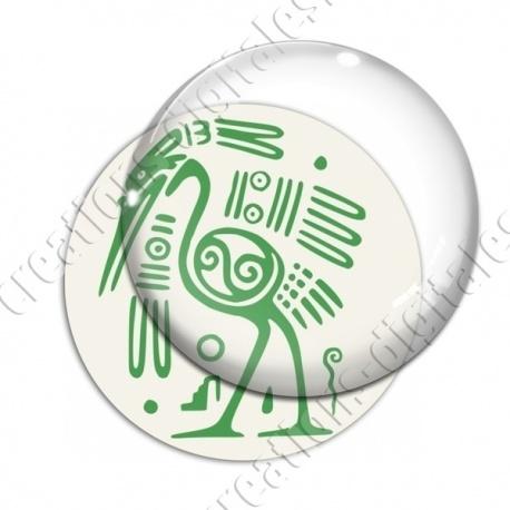 Image digitale - Tribal - Autruche vert