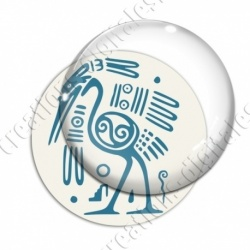 Image digitale - Tribal - Autruche turquoise