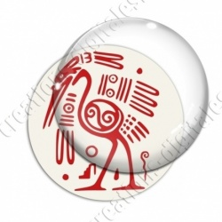 Image digitale - Tribal - Autruche rouge
