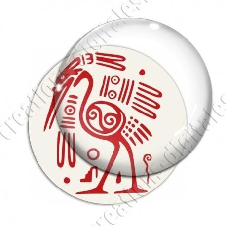 Image digitale - Tribal - Autruche rouge
