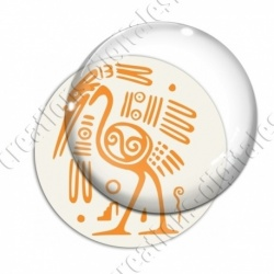 Image digitale - Tribal - Autruche orange