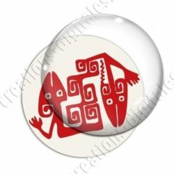 Image digitale - Tribal - Lézards rouge