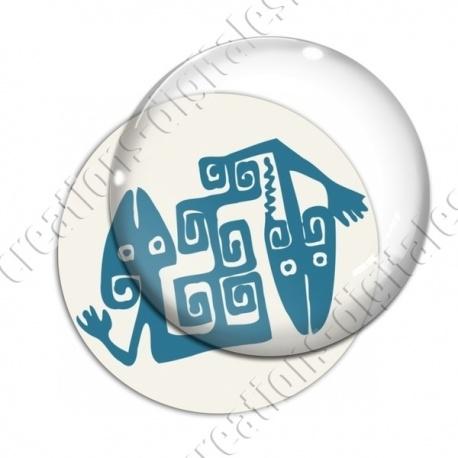 Image digitale - Tribal - Lézards turquoise
