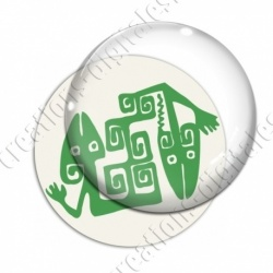 Image digitale - Tribal - Lézards vert