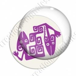 Image digitale - Tribal - Lézards violet