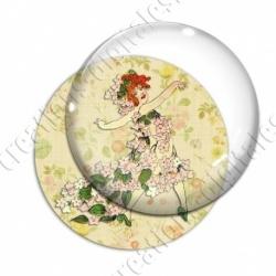 Image digitale - Fillette robe de fleurs