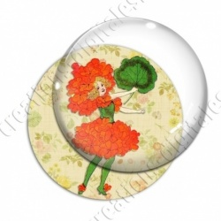 Image digitale - Fillette robe coquelicot