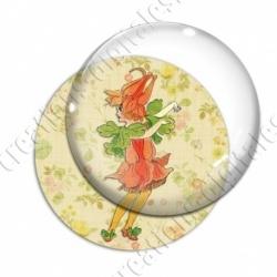 Image digitale - Fillette robe fleur rouge