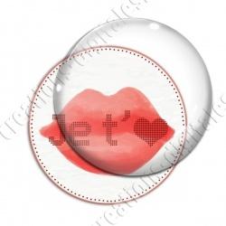 Image digitale - Je t'aime  bouche rouge