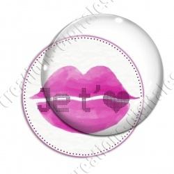 Image digitale - Je t'aime bouche violette