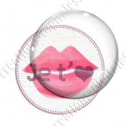 Image digitale - Je t'aime bouche rose