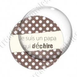 Image digitale - Papa qui déchire - Marron