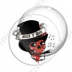 Image digitale - Rock'n'Roll coeur et tête de mort