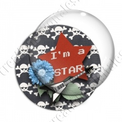 Image digitale - I'm a star -guitare noire