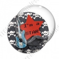 Image digitale - I'm a star -guitare bleue