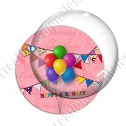 Image digitale - Bon anniversaire ballons 01