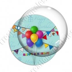 Image digitale - Bon anniversaire ballons 02