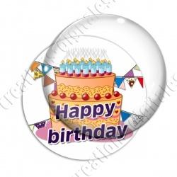 Image digitale - Bon anniversaire gâteau orange 01