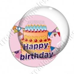 Image digitale - Bon anniversaire gâteau orange 02