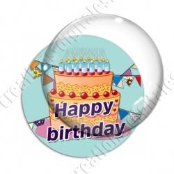 Image digitale - Bon anniversaire gâteau orange 03