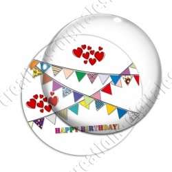 Image digitale - Happy birthday fanions