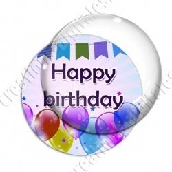 Image digitale - Bon anniversaire - Ballons 01 happy