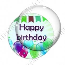 Image digitale - Bon anniversaire - Ballons 02 happy
