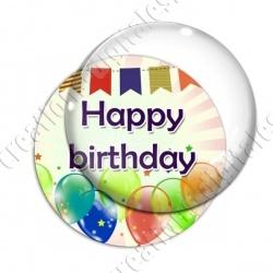 Image digitale - Bon anniversaire - Ballons 03 happy