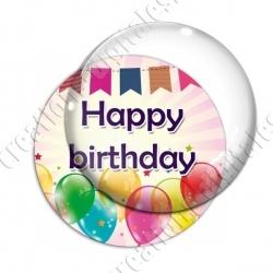 Image digitale - Bon anniversaire - Ballons 04 happy
