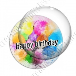 Image digitale - Happy birthday - Ballons peints
