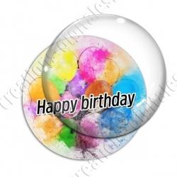 Image digitale - Happy birthday - Ballons peints