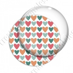 Image digitale - Coeurs 4 couleurs 04
