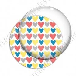 Image digitale - Coeurs 4 couleurs 05