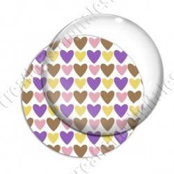 Image digitale - Coeurs 4 couleurs 10