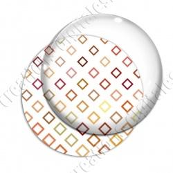 Image digitale - Contour carré ton orange