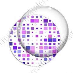 Image digitale - Carrés tailles différentes ton violet