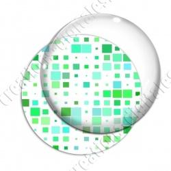 Image digitale - Carrés tailles différentes ton vert