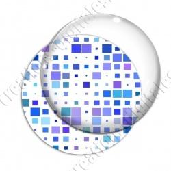 Image digitale - Carrés tailles différentes ton bleu