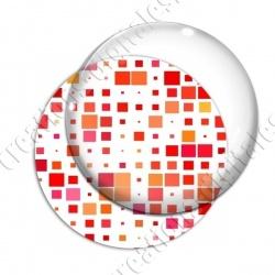 Image digitale - Carrés tailles différentes ton rouge