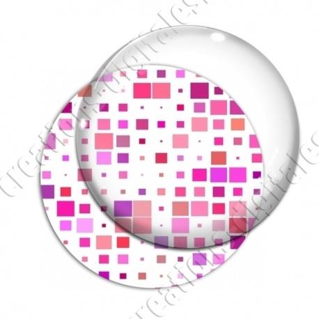 Image digitale - Carrés tailles différentes ton rose