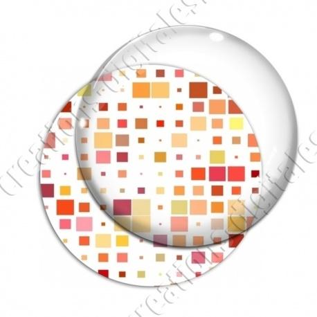 Image digitale - Carrés tailles différentes ton orange