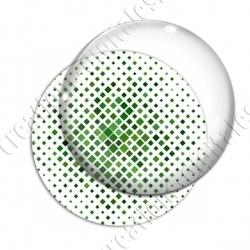 Image digitale - Carré effet losange dégradé vert