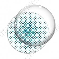 Image digitale - Carré effet losange dégradé turquoise