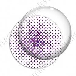 Image digitale - Carré effet losange dégradé violet