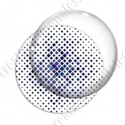 Image digitale - Carré effet losange dégradé bleu